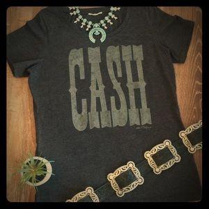 Charcoal Cheeky's Johnny Cash T-Shirt Western L